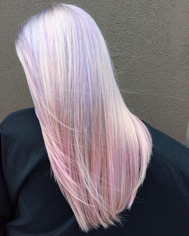 Lavender to Pink Melt.jpg 💜💗Platinum accents gives this color a beautiful iridescence! By Gaby