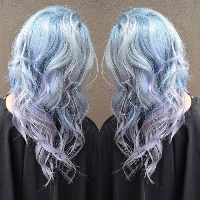 Can't get enough of Pulp Riot! 🌊 This Pastel Waterfall was created by using Powder, Lilac and Clear