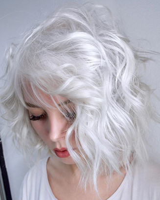 White Lob 🕊 Achieving A True Platinum With No Yellow, Silver, Beige Or Lavender Tones Is Always A Challenge.jpg