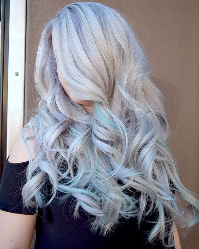 ❄️FROZEN BLONDE❄️ By Michael & Melody Using All _pravana Express Tones Violet, Vivid Pastels Blissfu