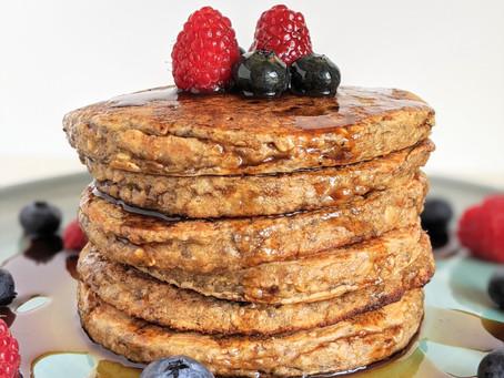 Healthy & Fluffy Buttermilk Pancakes 🥞