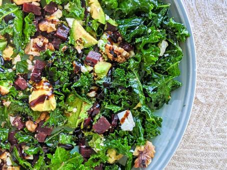 Kale, Beetroot and Feta Salad 🥬