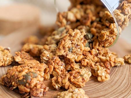Tahini, Maple, and Walnut Granola 🌰