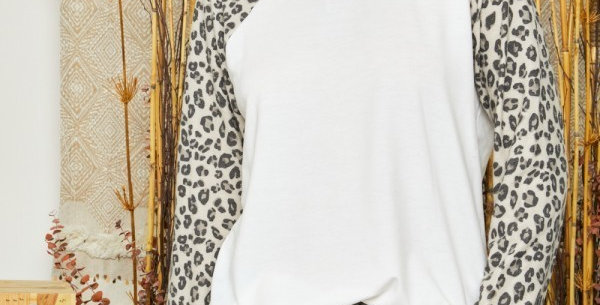 Leopard Round Neck Top