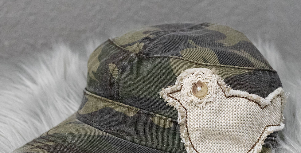 """Vintage """"Military"""" Style Hat"""