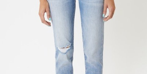 Kan Can High Rise Hem Mom Jean
