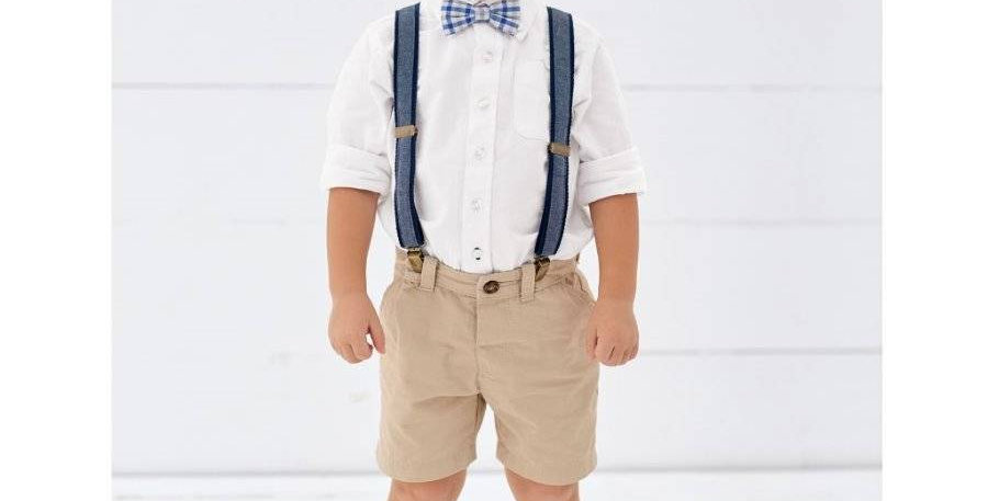 Bow Tie & Suspender 2 Piece Set
