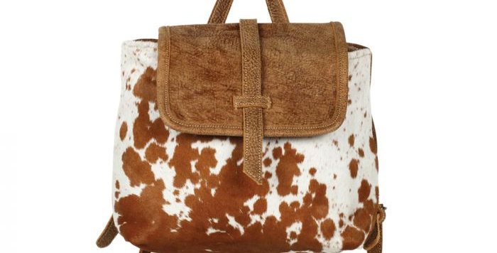 Leather Flap Hairon Back Pack