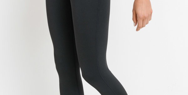 Highwaist Leggings with Laser Cut and Woven Details
