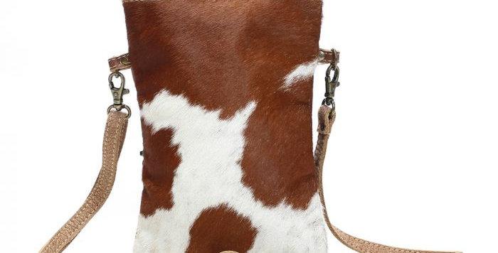 White & Brown Crossbody Bag