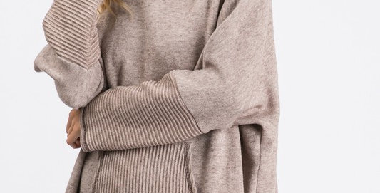 Pullover Taupe Sweatshirt Tunic