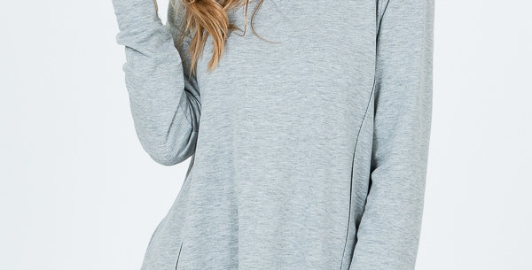 Grey Long sleeve with V-Neck