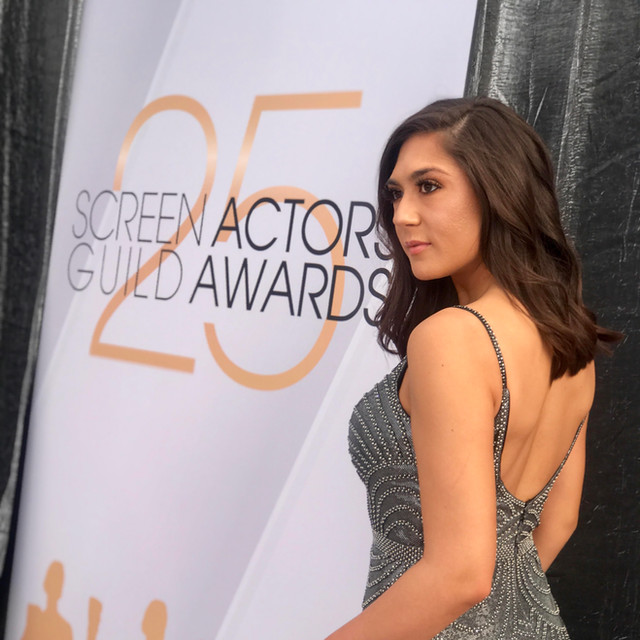 Candice covering The 25th Annual SAG Awards