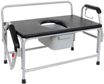 Bariatric Drop Arm (Over toilet) Commode