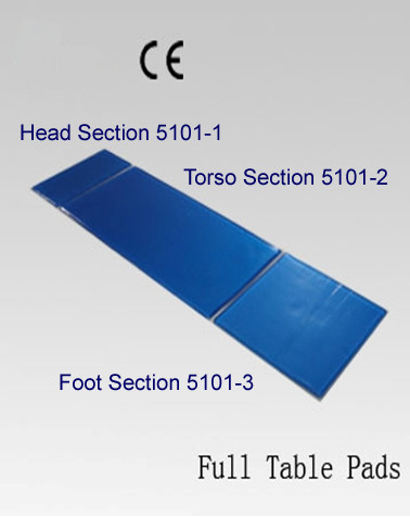 5101 Full table pads with product codes.