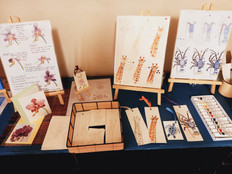 Watercolour painting project for visitor