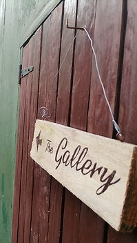 Rustic path to our Gallery door