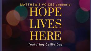 Joyous Spirit, Dynamic Voice, Bright Light! Callie Day joins Matthew's Voices for November concert!