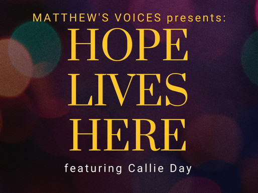 Joyous Spirit, Dynamic Voice, Bright Light! Callie Day joins Matthew's Voices for November concert!