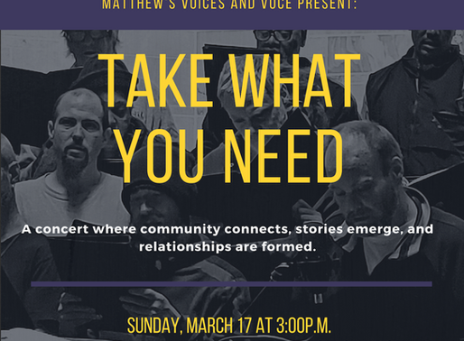 VOCE partners with Matthew's Voices to build community through song and storytelling
