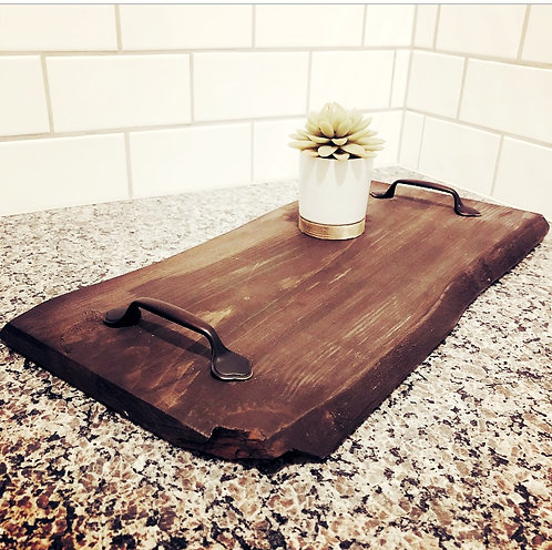Faux Live Edge Serving Tray