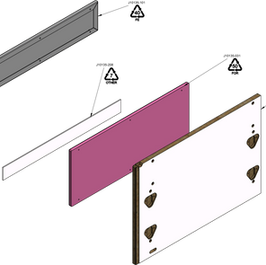 Drawer Box Outer End Panel LEFT