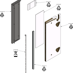 Wall Bay Add-On Outer End Panel LEFT