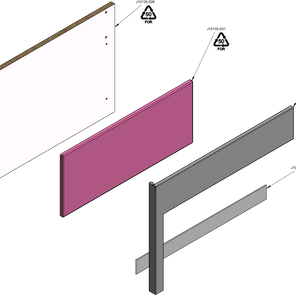 Drawer Box Outer End Panel RIGHT