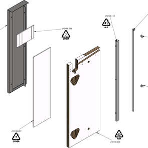 Wall Bay Add-On Outer End Panel RIGHT