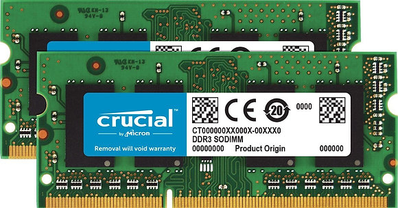 Crucial 8GB Kit (4GBx2) DDR3/DDR3L (PC3-12800)