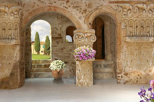 Фотообои или фреска - Старинный дворик