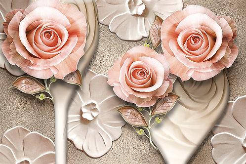 3d фотообои - Объемные розы