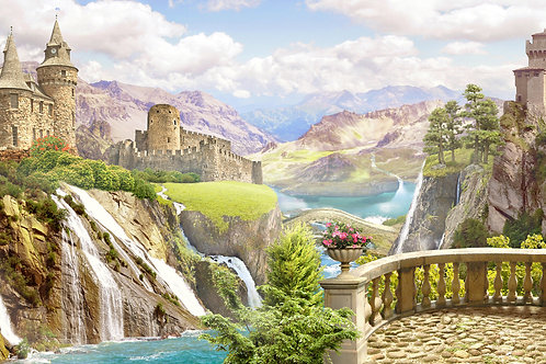 "Фотообои или фреска ""Вид на долину"""