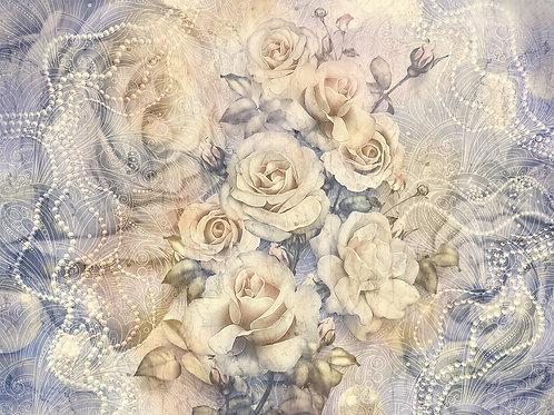 3d фотообои - Золотые розы