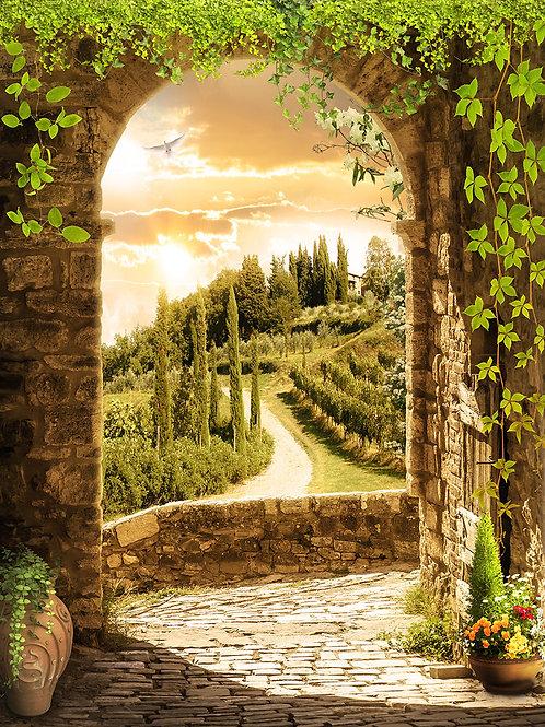 Фотообои или фреска -Тосканская арка