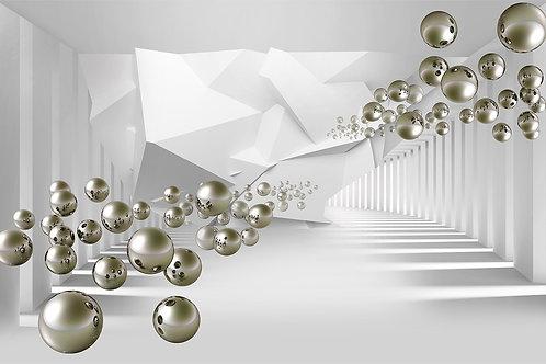 Дизайнерские фотообои - Серебряные шары
