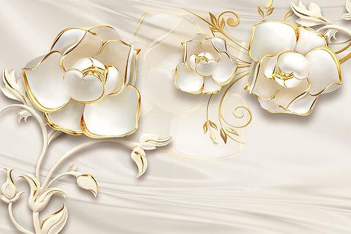 3д фотообои - Золотые розы
