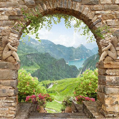 Фотообои или фреска - Арка в горах