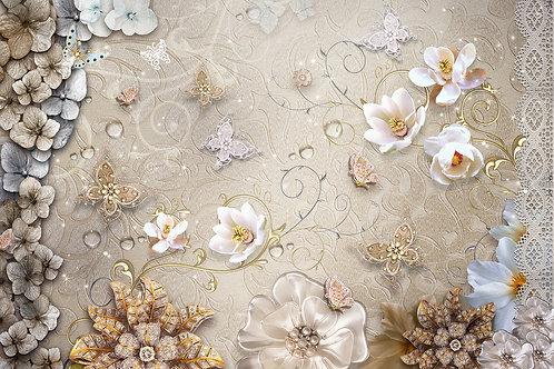 Дизайнерские фотообои - Волшебные цветы
