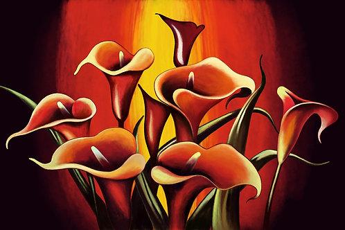 Картина на холсте - Каллы