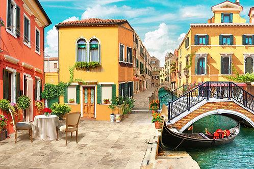 """Фотообои или фреска """"Венецианская улочка"""""""