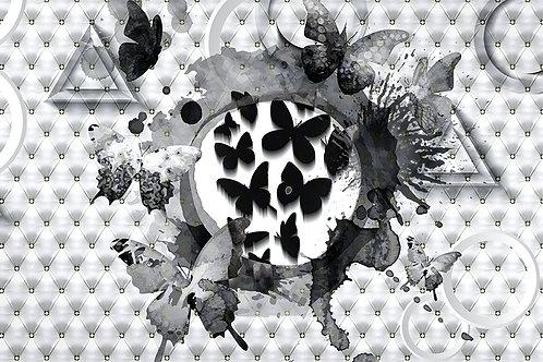 """3d фотообои """"Бабочки"""""""