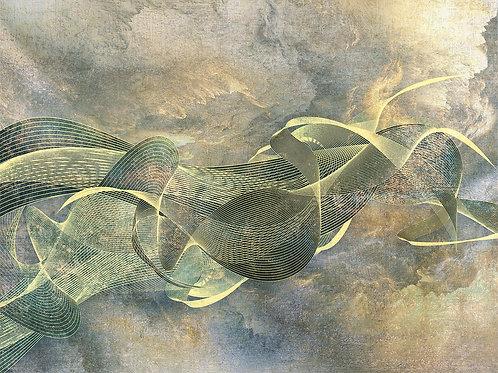 3d фотообои - Золотая абстракция