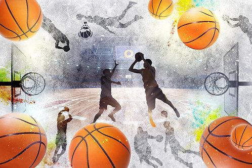 3d фотообои - Баскетбол