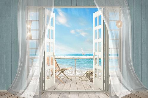 Фотообои или фреска - Выход на балкон