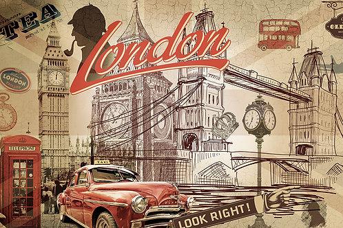 """Дизайнерские фотообои """"Лондон.Винтаж"""""""