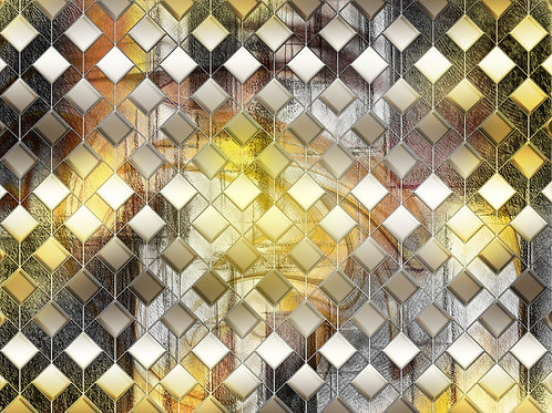 Дизайнерские фотообои - Fluid Geometrica Gold
