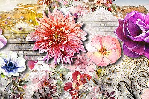 3d фотообои - Жизнь в цветах