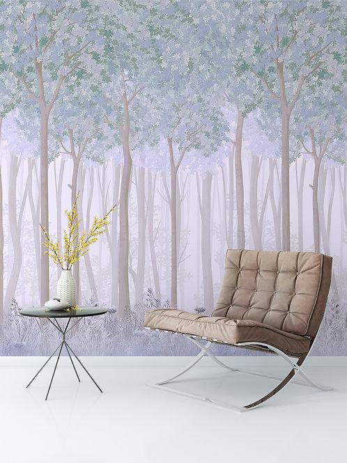 Дизайнерские фотообои -Тайнственный лес