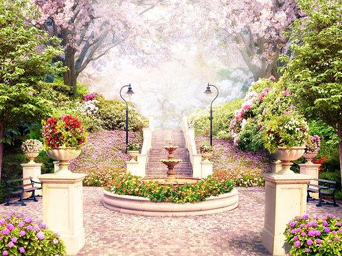Фотообои или фреска - Нежный сад